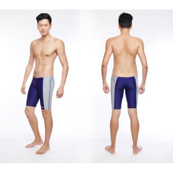 競泳水着 メンズフィットネス スパッツ トレーニング 練習用 スイムウェアKM304|tfashion|03