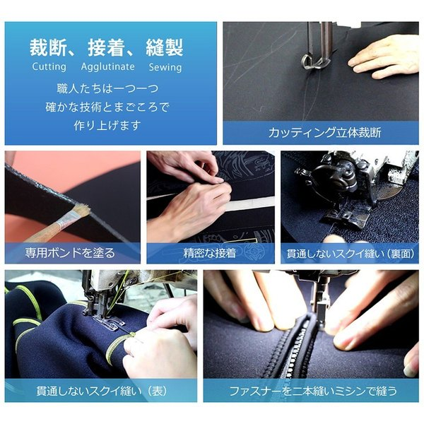 サイズ交換対応 5mmウェットスーツ メンズ フルスーツ 裏起毛 バックジップXD1106|tfashion|15