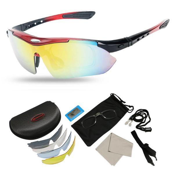スポーツサングラス 偏光 メンズ レディース ケース付き 超軽量 UVカット ゴルフ サイクリング 自転車用 野球 釣り XTSG18SS|tfashion|04