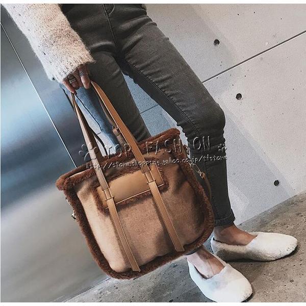 送料無料 バッグ レディース ショルダーバッグ ハンドバッグ スカーフ ファーチャーム モテモテ レディースバッグ 鞄 かばん 肩掛け 斜め掛け 肩