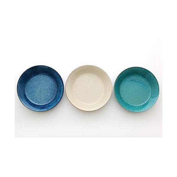 アイトー(Aito)カレー皿ブルー・ホワイト・グリーン20.8×4.3cmナチュラルカラーカレー&パスタ皿(3色組)20