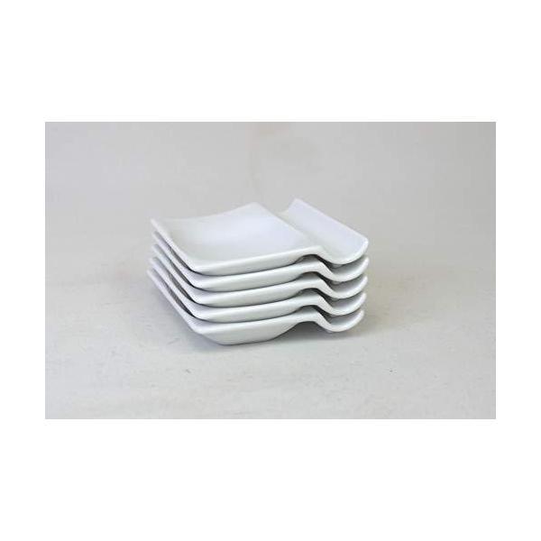 アイトー(Aito)小皿ホワイト7.3×8×1.5cm便利な箸置き小皿(5枚組)