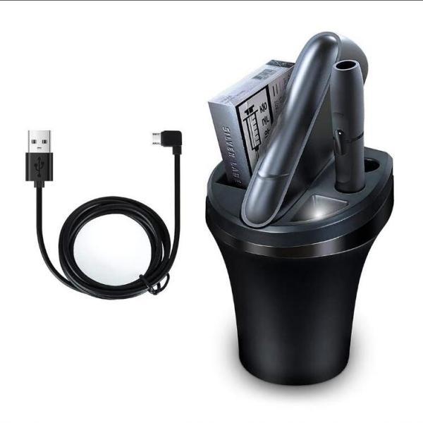 アイコス3 充電器 アイコス3 マルチ ケース 車用 灰皿 アイコス 充電器 IQOS3.0 ポケット チャージャー 車載 灰皿付き LED付き 多機能 超便利|tgbsell06