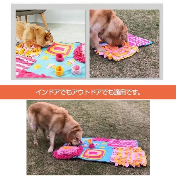 ペットおもちゃ ノーズワークマット 訓練毛布 犬 猫 ペット 分離不安/食いちぎる対策 運動不足/ストレス解消 噛むおもちゃ 知育玩具 嗅覚活動用品 (70*105CM)|tgbsell06|05
