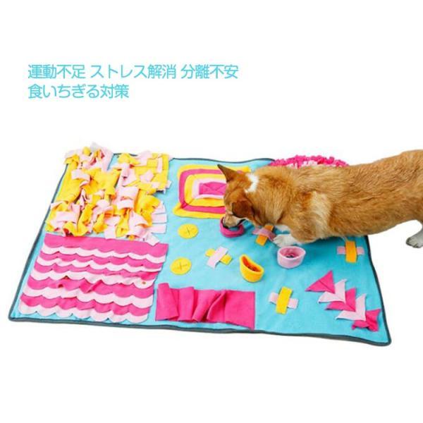 ペットおもちゃ ノーズワークマット 訓練毛布 犬 猫 ペット 分離不安/食いちぎる対策 運動不足/ストレス解消 噛むおもちゃ 知育玩具 嗅覚活動用品 (70*105CM)|tgbsell06|07