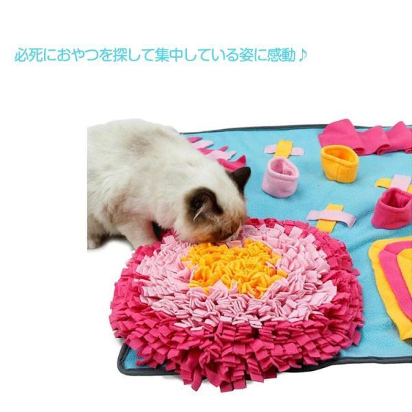 ペットおもちゃ ノーズワークマット 訓練毛布 犬 猫 ペット 分離不安/食いちぎる対策 運動不足/ストレス解消 噛むおもちゃ 知育玩具 嗅覚活動用品 (70*105CM)|tgbsell06|08