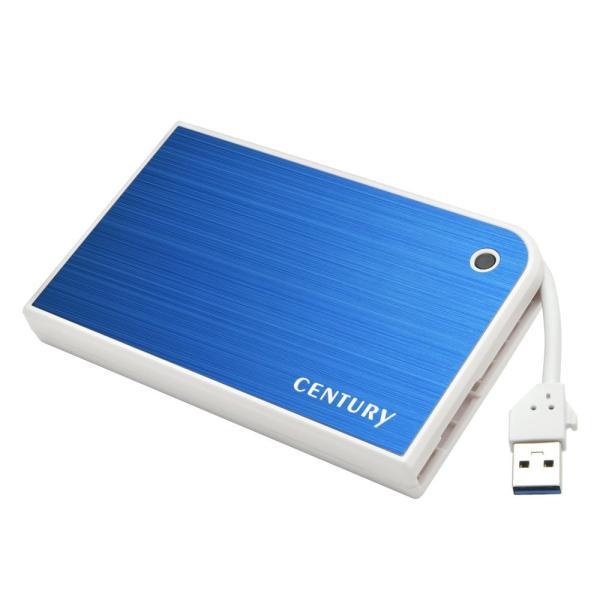 センチュリー MOBILE BOX USB3.0接続 SATA6G CMB25U3BL6G ブルー/ホワイト