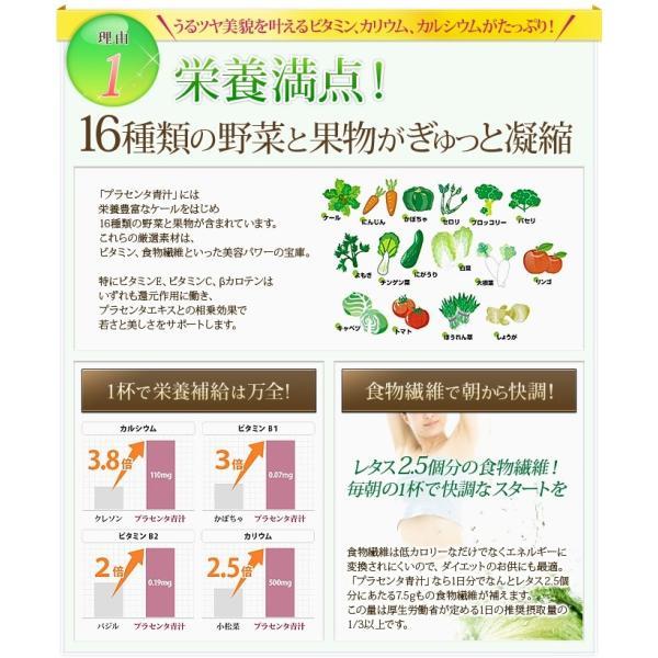 手軽に食物繊維が取れる美味しいTHBプラセンタ青汁(4g×30包) 毎日1杯で美しく健康に 美容成分プラセンタ×16種類の野菜と果物|thbshop|03