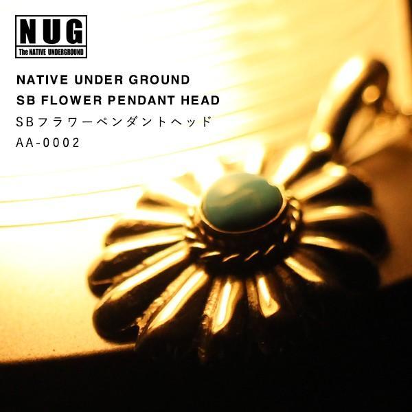 【NATIVE UNDER GROUND】 SBフラワーペンダントヘット /ハンドメイドシルバー ターコイズ|thcraft-official|02