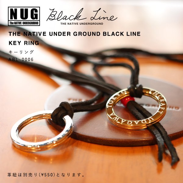 【NUG BLACK LINE】KEY RING キーリング|thcraft-official