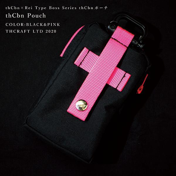 【thCbn】thCbn ポーチ レザー製ワッペン付き / マルチケース ウェストポーチ|thcraft-official|02