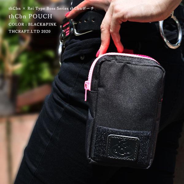 【thCbn】thCbn ポーチ レザー製ワッペン付き / マルチケース ウェストポーチ|thcraft-official|05