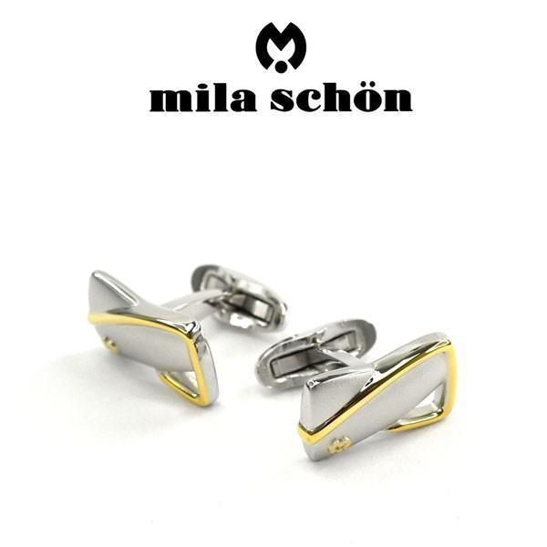 mila schon ミラショーン カフス 専用ボックス付き ロジウムメッキ MSC10347