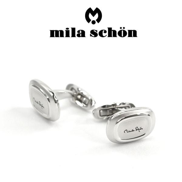 mila schon ミラショーン カフス 専用ボックス付き ロジウムメッキ MSC10357