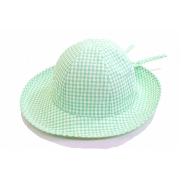 セーラー 111950 グリーン 緑 ギンガムチェック キッズ 子供用 ジュニア 帽子 ハット 旅行 紫外線対策 UVケア 日除け アウトドア ネット通販 春夏