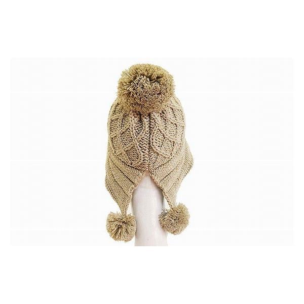 Munsingwear マンシングウェア WT145 ベージュ レディース 婦人 ニット帽 後ろ割れ おしゃれ アウトドア プレゼント ネット通販 日本製 秋冬