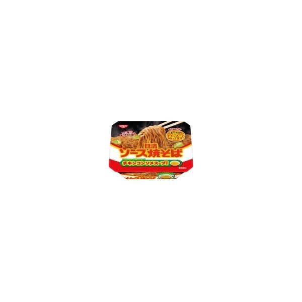 日清食品 日清ソース焼そばカップ チキンスープ付き 104g まとめ買い(×12)