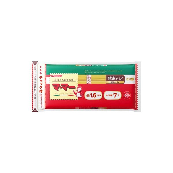 マ・マー チャック付スパゲティ結束 1.6mm 600g まとめ買い(×10)