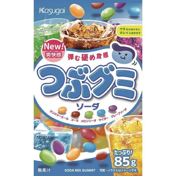 春日井 つぶグミソーダ 85g まとめ買い(×6)
