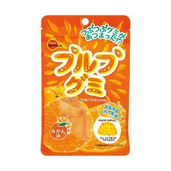 ブルボン プルプグミみかん味 55g まとめ買い(×10)