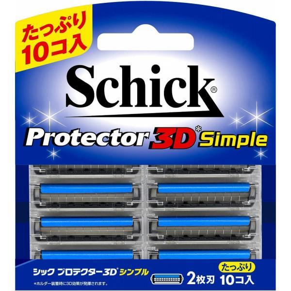 12個 セット シック プロテクター3Dシンプル替刃 10個