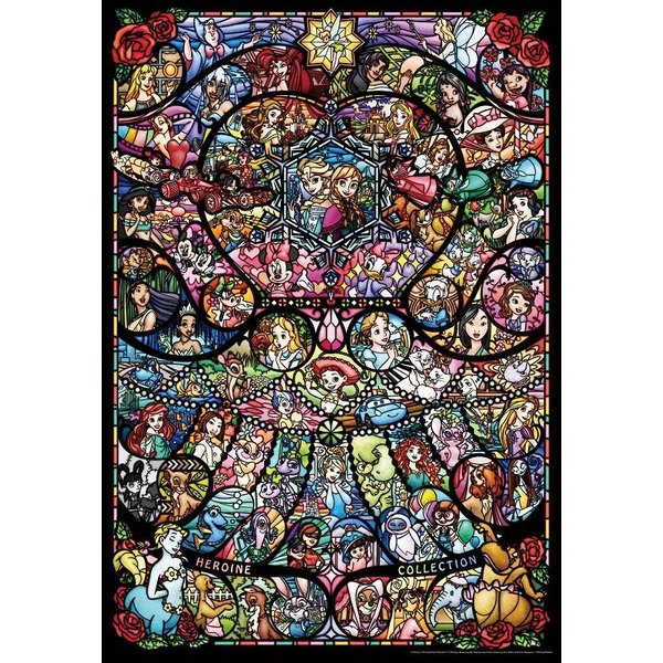 ジグソーパズル テンヨー 1000ピース ディズニー&ディズニー/ピクサー ヒロインコレクション ステンドグラス DP-1000-028