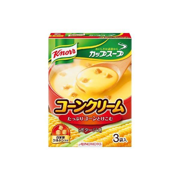 味の素 クノールカップスープ コーンクリーム3袋 52.8g まとめ買い(×10)