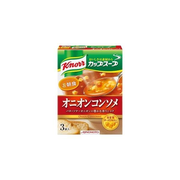 味の素 クノールカップスープ オニオンコンソメ3袋 34.5g まとめ買い(×10)