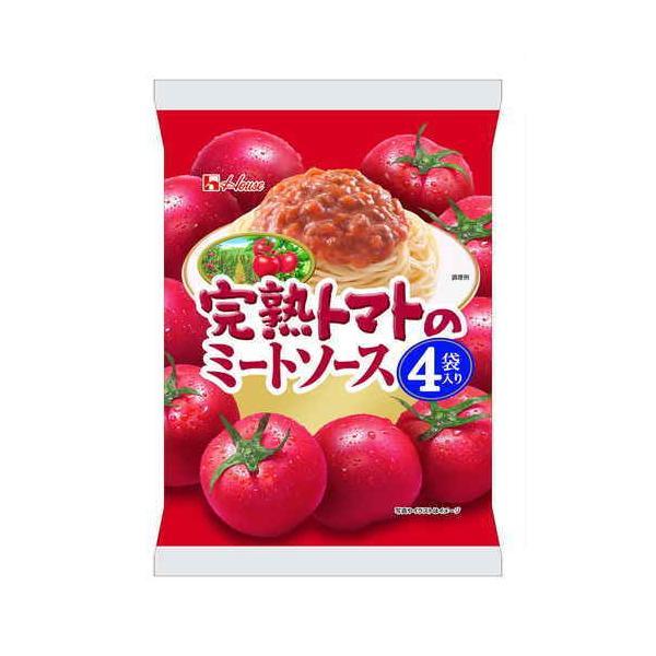 ハウス 完熟トマトのミートソース4袋入り 520g まとめ買い(×6)