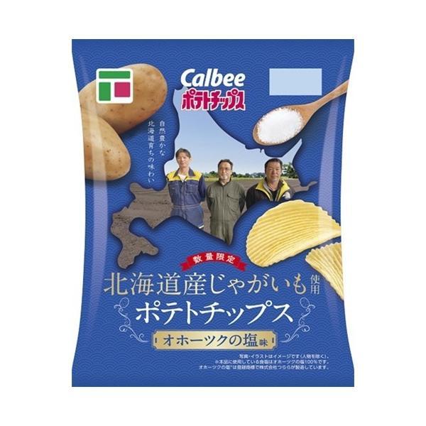 フジオリジナル カルビー 北海道産じゃがいも使用 ポテトチップス オホーツクの塩味 80g まとめ買い(×12袋)