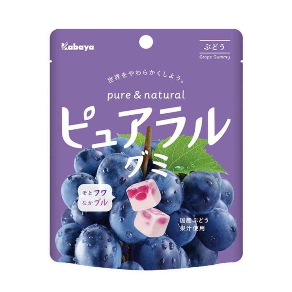カバヤ  ピュアラルグミ ぶどう 58g まとめ買い(×8)