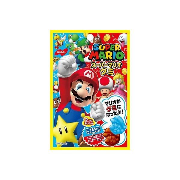 ノーベル スーパーマリオグミ ラムネ&コーラ 45g まとめ買い(×6)