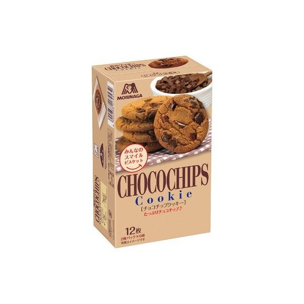 森永 チョコチップクッキー 12枚入 まとめ買い(×5)
