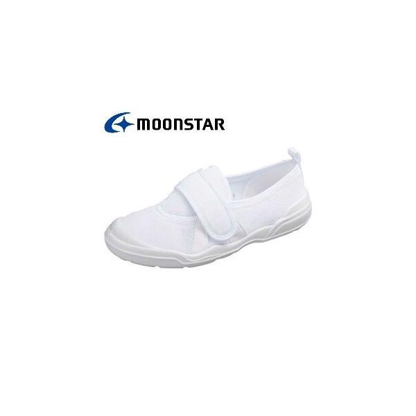 【MS】大人の上履き ホワイト 介護 リハビリ 室内履き ムーンスター MOONSTAR|MS02-white