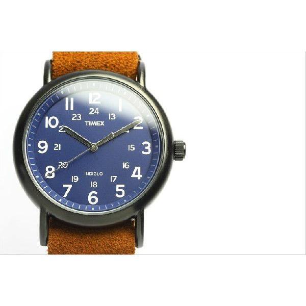 TIMEX T2P352 タイメックス 腕時計 ウィークエンダー 限定モデル ネイビー×ブラウン スエードベルト|the-hacienda