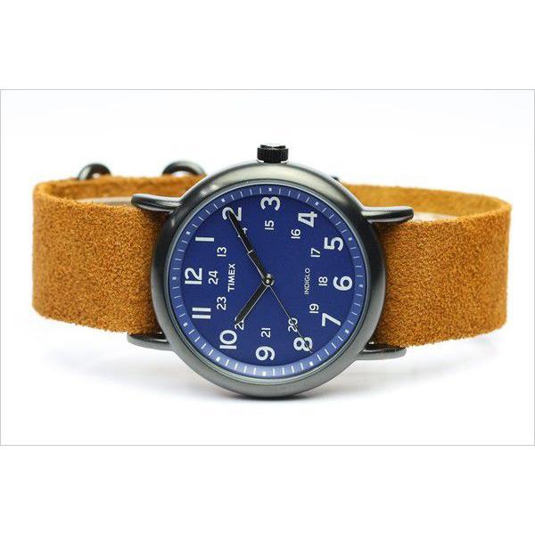 TIMEX T2P352 タイメックス 腕時計 ウィークエンダー 限定モデル ネイビー×ブラウン スエードベルト|the-hacienda|02