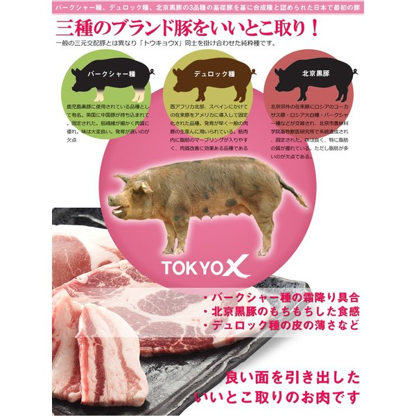 送料無料 TOKYO X しゃぶしゃぶセット 600g  豚肉 ロース・もも肉・豚バラ・切り落とし など お中元 父の日 the-nikuya 08