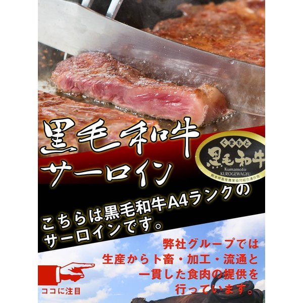 黒毛和牛 サーロイン (230g) 【贈り物/プレゼント/父の日/母の日 牛肉 サーロイン ステーキ】|the-nikuya|02