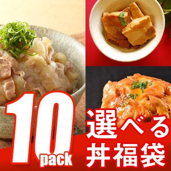 選べる 福袋 丼の具 (10P) 牛肉 8種類の具材からお好きなものを10セット選べる the-nikuya