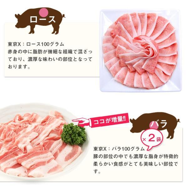 送料無料 TOKYO X 食べつくしセット 1.6kg 幻の豚肉 東京X トウキョウエックス 豚肉 肩ロース バラ肉 モモ肉 切り落とし 更におまけに200g|the-nikuya|06
