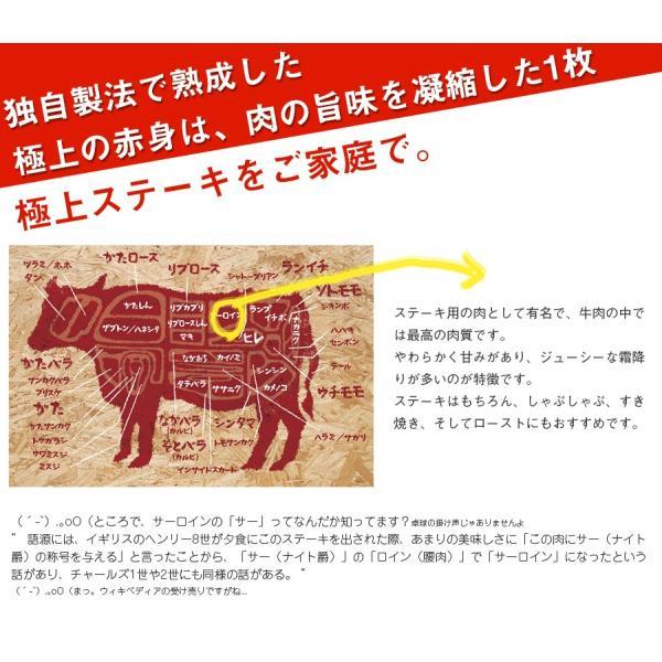 熟成 アンガスビーフ 厚切り サーロインステーキ 1ポンド 【 牛肉 ステーキ肉 塊 熟成肉 サーロイン 赤身肉 BBQ 】 2枚以上購入で送料無料|the-nikuya|02