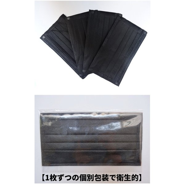 黒マスク 活性炭入り三層 ブラック 黒マスク 竹炭 花粉 ブラック マスク  韓国10枚入り  使い捨て セール|thebest|03