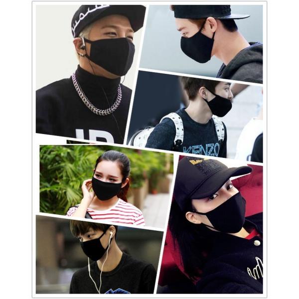 活性炭入り三層 黒マスク竹炭 ピンク 花粉 布マスク ブラック マスクファッション 風邪 ウィルス 予防 だてマスク セール|thebest|05