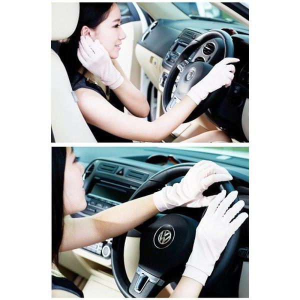 シルク100%手袋 日除けテブクロ 紫外線防止 手湿疹や手荒れに最適なシルク手袋 セール thebest 05
