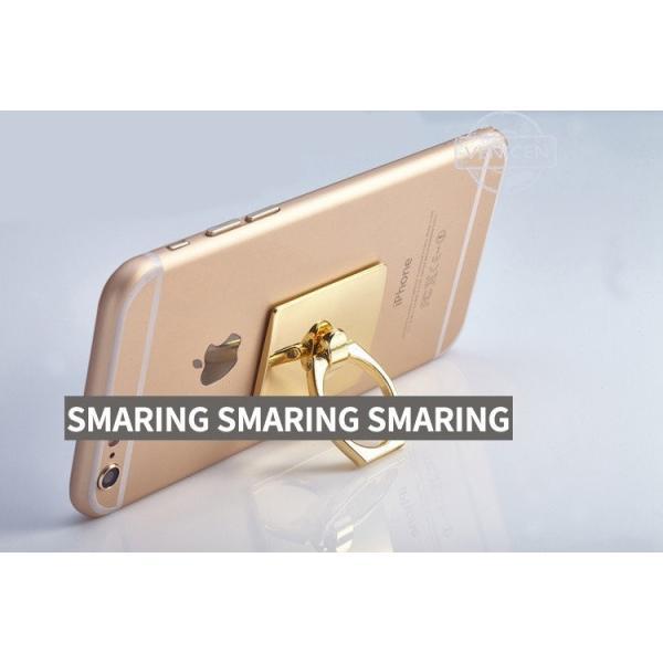 リングスタンド バンカーリング スマートフォン スマホ スタンド 落下防止 iphone アクセサリー スマリング 引っ掛ける 便利グッズ セール|thebest|05