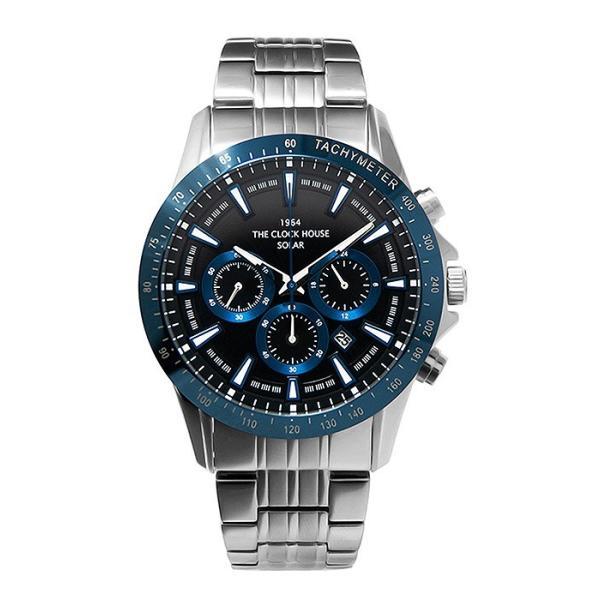 ザ・クロックハウス MBC1003-BK6A ビジネスカジュアル メンズ 腕時計 ソーラー ステンレス ネイビー メタル クロノグラフ ブラック 雑誌掲載|theclockhouse-y|02