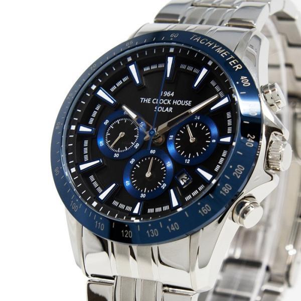 ザ・クロックハウス MBC1003-BK6A ビジネスカジュアル メンズ 腕時計 ソーラー ステンレス ネイビー メタル クロノグラフ ブラック 雑誌掲載|theclockhouse-y|03