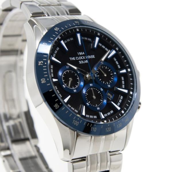 ザ・クロックハウス MBC1003-BK6A ビジネスカジュアル メンズ 腕時計 ソーラー ステンレス ネイビー メタル クロノグラフ ブラック 雑誌掲載|theclockhouse-y|05