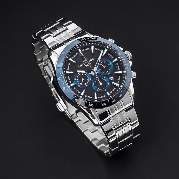 ザ・クロックハウス MBC1003-BK6A ビジネスカジュアル メンズ 腕時計 ソーラー ステンレス ネイビー メタル クロノグラフ ブラック 雑誌掲載|theclockhouse-y|09