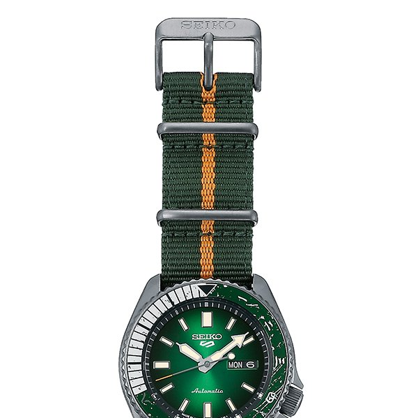 12月11日発売/予約 セイコー 5スポーツ NARUTO & BORUTO ナルト&ボルト コラボレーション 限定 ロック・リー SBSA095 メンズ 腕時計 メカニカル 日本製|theclockhouse-y|12